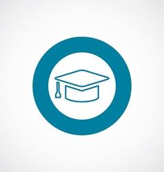 Education icon bold blue circle border vector
