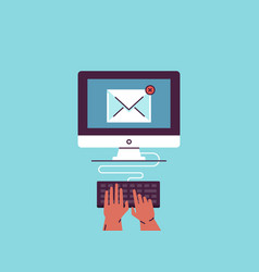 email newsletter e-mail marketing vector image