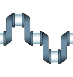 Engine crankshaft icon vector