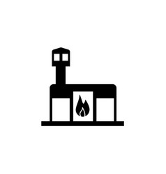 fire station building icon vector image