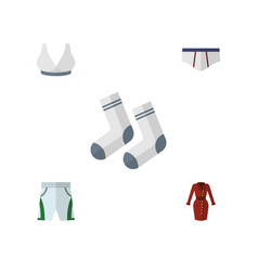 flat icon dress set of trunks cloth clothes foot vector image