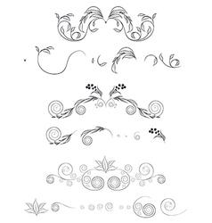 floral shapes set vector image