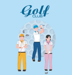 golf club concept cartoons vector image