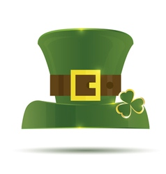 Green St Patricks Day Hat vector
