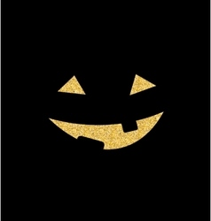 Halloween Background with Pumpkin Smile vector