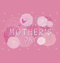 happy mothers day design of carnation flowers vector image
