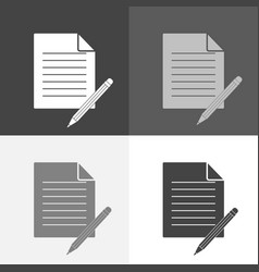 Image set a document with a pencil document vector