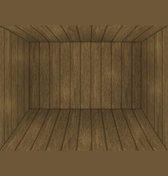 inside the wooden box wooden room vector image