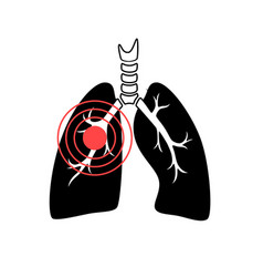 isolated of lung vector image
