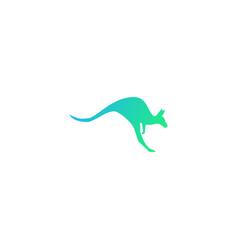 Kangaroo logo design icon element vector