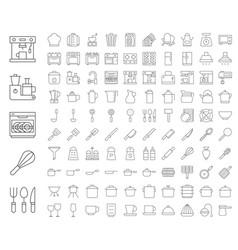 kitchen utensils bakery equipments chef uniform vector image