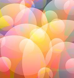 Light rainbow bubble vector
