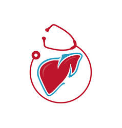liver care logo design heart shilhoutte with vector image