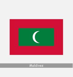 Maldives maldivian national country flag banner vector