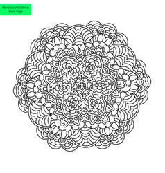 mandala flower patterned vector image