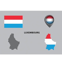 Map of luxembourg and symbol vector