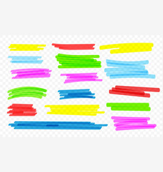 marker lines highlighter brush lines hand drawing vector image