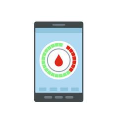 Menstrual mobile calendar icon flat style vector