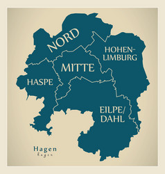 Modern city map - hagen city of germany with vector