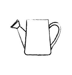 monochrome blurred silhouette of watering can vector image