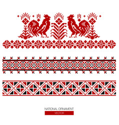 National ornament background vector