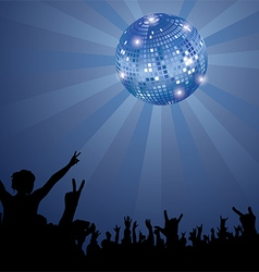 Night Club Crowd vector image
