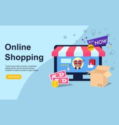 Online store eshop internet selling online vector