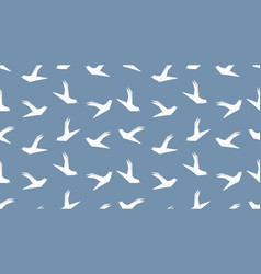 origami dove bird seamless pattern on blue vector image