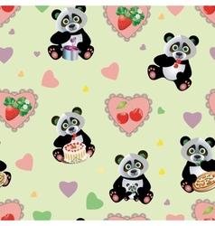 Panda Sweet Seamless vector image
