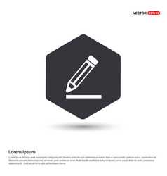 pencil icon hexa white background icon template vector image