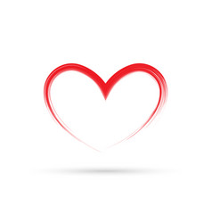popular heart drawing love valentine sign symbol vector image