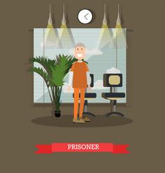 prisoner in flat style vector image