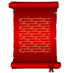 Red scroll vector