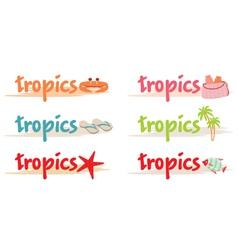 Rest symbols in tropics vector image