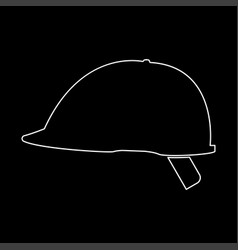 safety helmet the white path icon vector image
