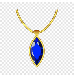 Sapphire jewelry icon realistic style vector