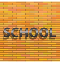 School sign vector