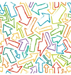 Seamless pattern of colorful arrows vector