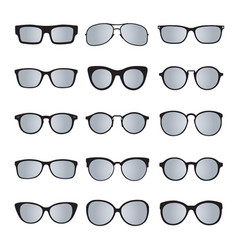 set of glasses isolated 4 icons vector image
