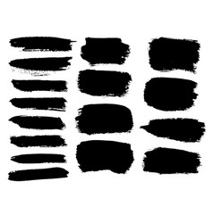 set of hand drawn grunge elements vector image