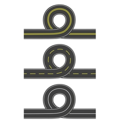 Set of roads with loop vector