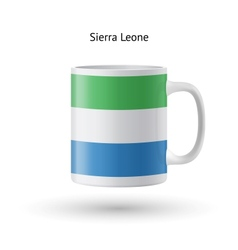 Sierra Leone flag souvenir mug on white background vector image
