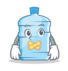 Silent gallon character cartoon style vector
