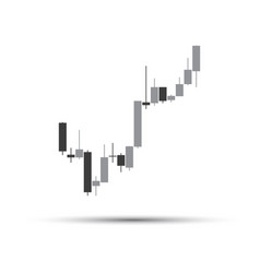 Simple grey candlestick chart vector