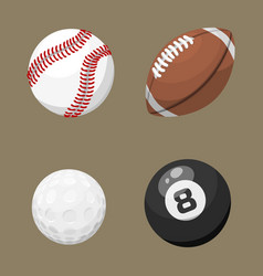 sport balls isolated tournament win round basket vector image vector image
