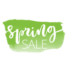 Spring sale hand written inscription vector
