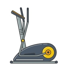 Stationary exercise bike sport gym machine health vector image