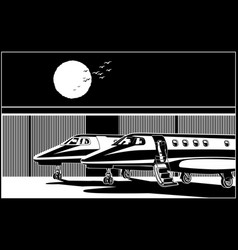Stylized luxury business jets vector
