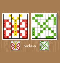 Sudoku set vector image