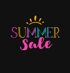 summer sale template 1 vector image
